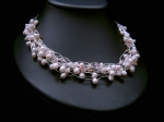 Joanna - Pearl & Crystal Wedding Necklace (Champagne)