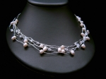 Jacqueline - Delicate Pearl & Crystal Wedding Necklace - Bespoke