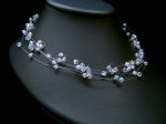 Delia - Sparkly Delicate Crystal Wedding Necklace (AB) - Bespoke