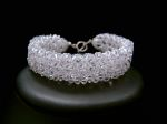 Annabel - Sparkly Crystal Cuff Wedding Bracelet