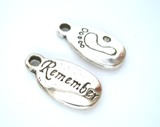 Remember Footprint Charm - Memorial Remembrance