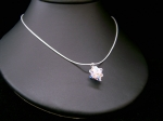 Stephanie - Crystal Cluster Pendant Wedding Necklace - Bespoke