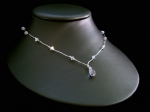 Tallulah - Crystal Teardrop Pendant Wedding Necklace - Bespoke
