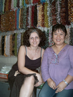 Bead Shopping in Thailand with my Friend, Yiu