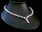 Ashley - Pearl & Crystal Drop Wedding Necklace - Bespoke